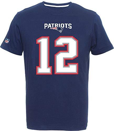 Fanatics New England Patriots Name and Number T Shirt Brady 12 Navy - XL