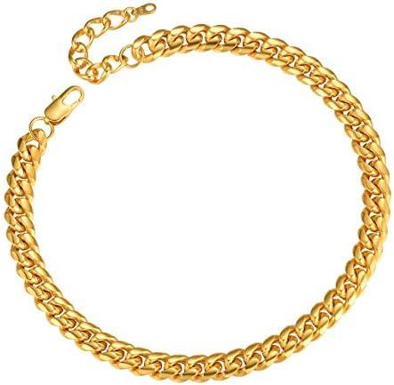Gold Chunky Choker Necklaces for Men 10MM 14 inch Hip Hop Rapper DJ Short Neck Necklace product image