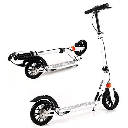Scooter de pie Aleación de aluminio con doble absorción de choque plegable de dos ruedas Actualiza Campus Ciudad Vespa freno de mano, motos top negro a juego del freno de mano del freno de pie + + dis