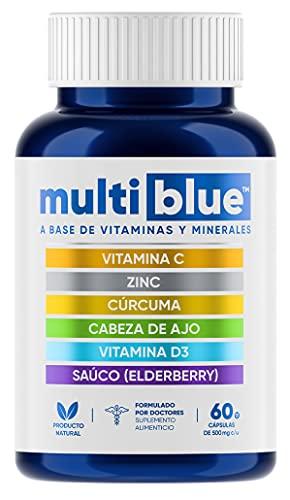 MULTIBLUE IMMUNE ULTRA | Avanzada 6 en 1 Defensa Inmune con Vitamina C, Zinc,...