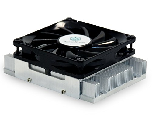 SilverStone SST-NT07-AM2 37mm AMD SocketAM2 Aluminium-CPU Kühler mit geräuscharmem 80 mm Lüfter