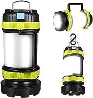 LED Camping Lantern, Rechargeable Portable Lantern Flashlight, 6 Modes, 3600mAh Power Bank, Two Way Hook of Hanging,...