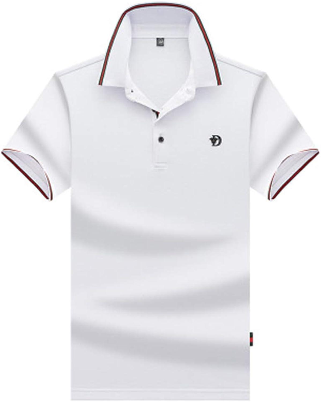 c03f9868e Bon Soir Mens Polo Shirts Personality Casual Casual Casual Slim Short  Sleeve T Shirt Top 9613f1