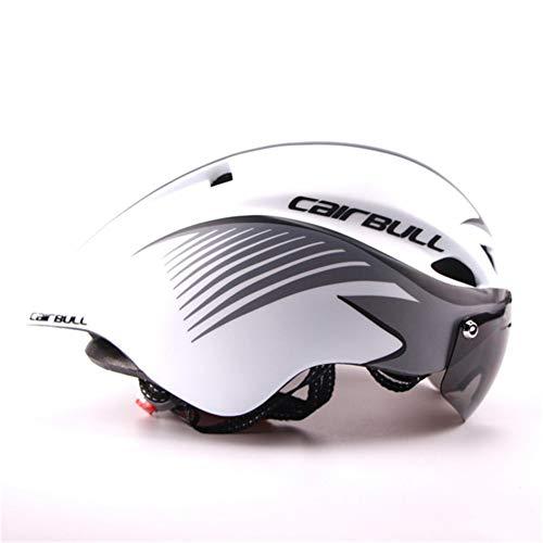 Gbike Casco para Bicicleta TT con Gafas, Ciclismo de Ruta Casco Deportivo...