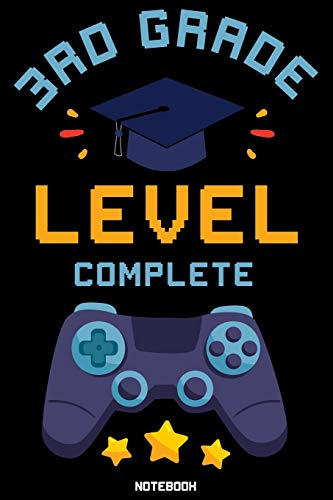 3rd Grade Level Complete: Gaming Journal Notebook Video Games esports PC & Console Retro Vintage Design for Gamer Birthday gift
