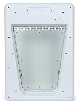 PetSafe - Grande Chatière Électronique SmartDoor pour Chat/Chien, Verrouillage Automatique Sécurisé, 3 Modes - Blanc