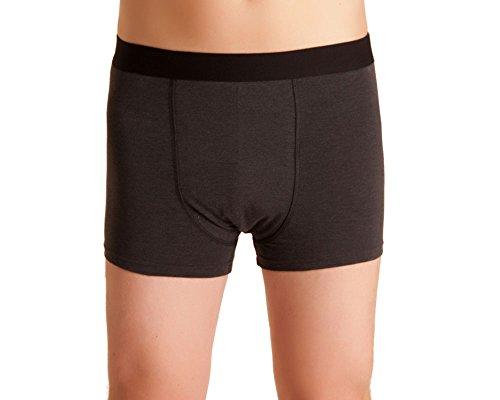 Herren Inkontinenz-Shorts, waschbare Inkontinenz-Unterhose Männer, dunkelgrau/melange, mit Saugeinlage, für Tagesinkontinenz geeignet, ActivePro Men Normal (XXL)