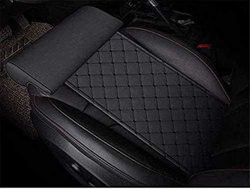 YQJ Car seat Extender Cushion Leg Support Pillow?Pillow for car Driver seat?Chair Leg Extenders?Leather Knee Pads Long-Distance Driving car Bus Train Office Home Leg Cushion (Black)