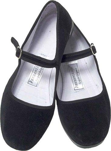 Velvet Mary Jane Chinese Shoes