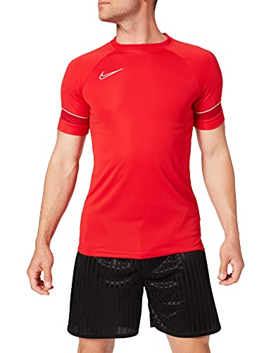 NIKE M NK Dry ACD21 Top SS T-Shirt, University Red/White/Gym Red/White, S Mens