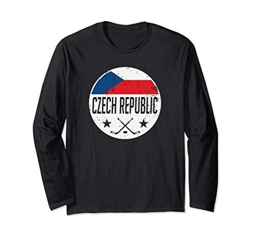 Czech Republic Ice Hockey Flag Jersey Supporter Fan Gift Langarmshirt