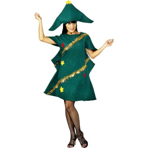 Amakando Disfraz de rbol de Navidad con sombrero, disfraz de rbol de Navidad