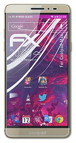 atFolix Glasfolie kompatibel mit Coolpad Max Panzerfolie, 9H Hybrid-Glass FX Schutzpanzer Folie