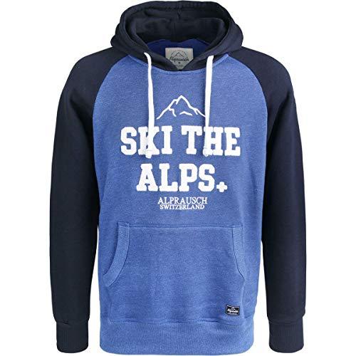 Alprausch Herren Ski The Alps Hoodie, Olympian Blue