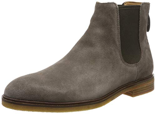Clarks Herren Clarkdale Gobi Chelsea Boots, Grau (Taupe Suede Taupe Suede), 47 EU