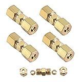 KingFurt - 4 conectores de cable de freno para cable de freno, 4,75 mm, cobre galvanizado