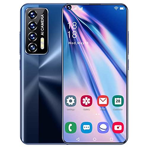 HYDL Moviles Baratos, 4GB RAM+64GB ROM, 6800mAh, 5G Smartphone Android 11 Cámara Cuádruple 50MP, Teléfono Móvil de 7.3″ Pantalla HD +, Face ID,Azul