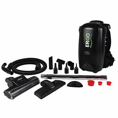 Atrix HEPA Backpack Vacuum, Standard Bundle, Black
