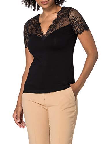 Morgan Tshirt DVOLA Camiseta, Negro, XS para Mujer