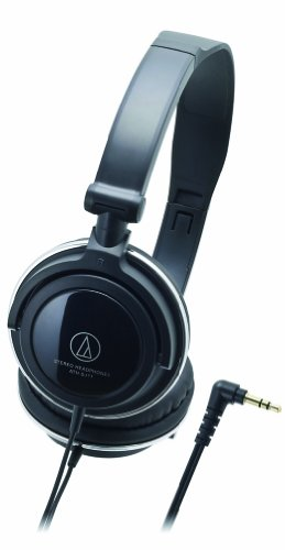 Audio-Technica ATH-SJ11 SonicFuel Closed-Back Dynamic On-Ear Wired Headphones, Black