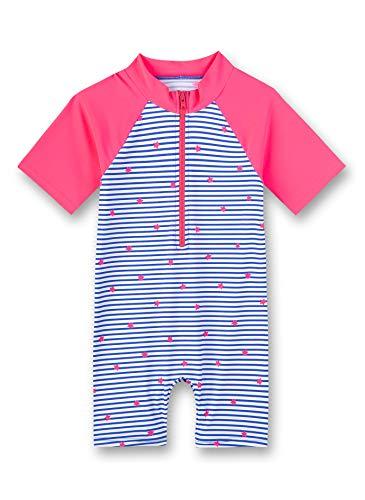 Sanetta Mädchen Badeanzug Schwimmanzug 430437, Farbe:Blau (Azur 50286), Größe:92
