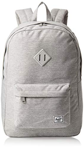 Herschel Unisex's Heritage Backpack, Light Grey Crosshatch, One Size