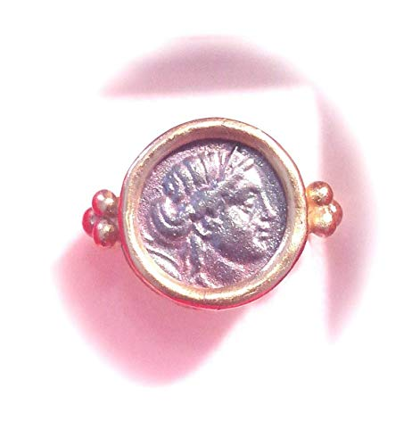 Vespasian Coin Ring 24kt Pure Gold Plated Silver 925 Handmade