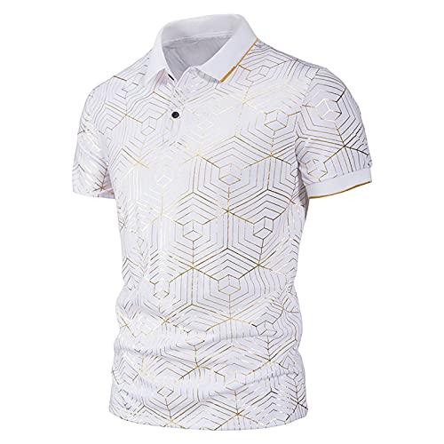 Nuevo 2021 Camiseta Hombre Verano Polo Moda impresión Camiseta Deporte Manga corta Negocio Diario Slim Fit Casuales T-shirt Cómodo Blusas originales camisas algodón suave básica Camiseta