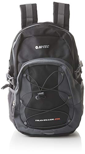 Hi-Tec Unisex Traveller Rucksack, schwarz/anthrazit, Einheitsgröße