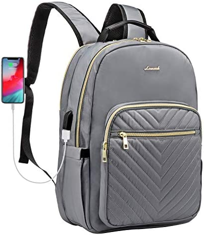 LOVEVOOK Laptop Backpack for Women Quilted Business Work Computer Bags Stylish Purse Bookbag product image
