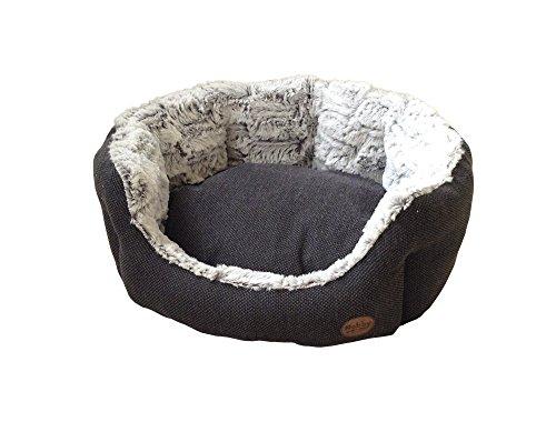 "Nobby 60513 Komfort Bett oval ""Cacho"", dunkelgrau - 2"
