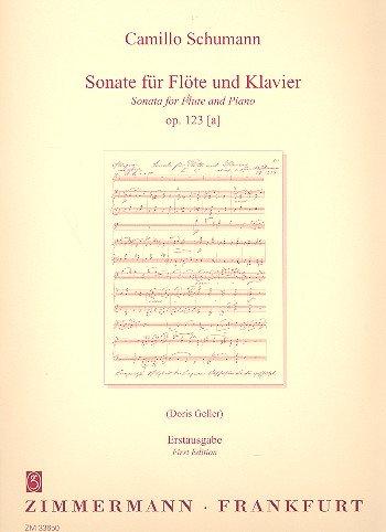 Sonate Op 123a. Flöte, Klavier