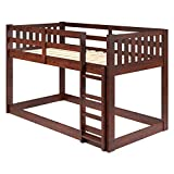 Chelsea Home Furniture Carter Twin Over Twin Low Mission Bunk Bed in Chocolate