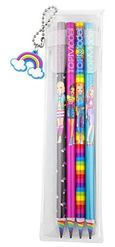 Depesche 6402 - Bleistifte TOPModel Rainbow, 4er Set