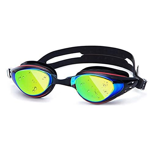 JINGGEGE Occhiali da Nuoto Occhiali da Nuoto Myopia in Silicone Anti-Nebbia Anti-Nebbia con tappellino (Color : Myopia 500)