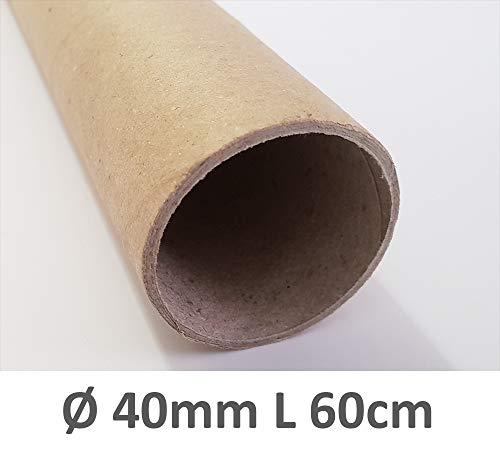4WAY Verlag 72 Hartpapierhülsen Ø 40 mm L 600 mm solide Wandstärke 2 mm TOP Qualität mit schnell-Versand (72)