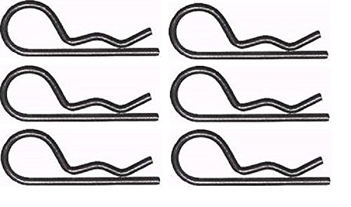 Set of 6 Replacement Retainer Spring (Clip) for Part # 85902, 4939M. Craftsman, Poulan, Husqvarna, Wizard