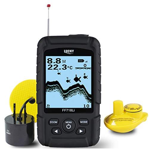 RENYAFEI 2-In-1 Buscador De Peces Buscador De Profundidad LCD De Alta Definición Portátil Rastreador De Peces 100M Profundidad para Ríos Lagos Pesca En Hielo Y Pesca Nocturna
