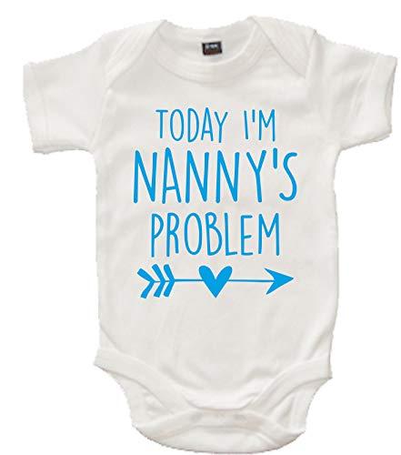 Edward Sinclair Barboteuse pour bébé Inscription Today I'm Nanny's Problem - - 6-12 mois