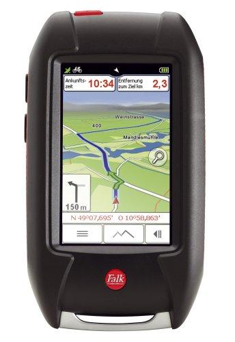 Falk Lux 30 Deutschland Edition (76mm Diagonale (3 zoll) Bildschirm, Routinfähige Rad und Wanderkarten vorinstalliert, Track Aufzeichnung, Geocaching, Routenplaner) schwarz/rot