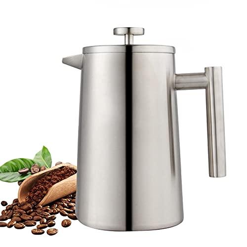 LTLWSH Caffettiera a Pressa Frances Acciaio Inossidabile Stampa Francese - Doppia Parete 32oz caffè Stampa - Acciaio Inossidabile Plunger caffè e tè Maker
