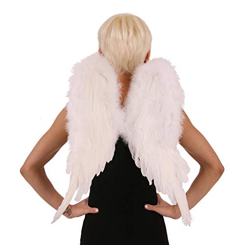 ZUCKER White Angel Fairy Costume Wings - Small Adult and Teens Halloween Costume & Cosplay Feather Wings