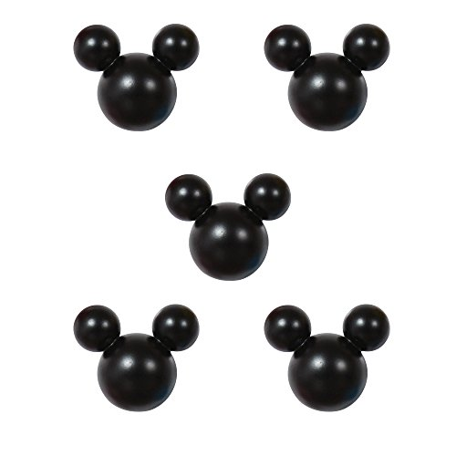 アルファタカバ ディズニー ミッキー取っ手シリーズ ツマミつまみ 5個セット ブラック