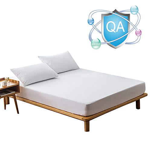 MaoXinTek Mattress Protector Comfort Waterproof Terry Towel Bed Protection Topper Cover Extra Deep Plus 30cm Depth for Single Bed Size 90x200 cm