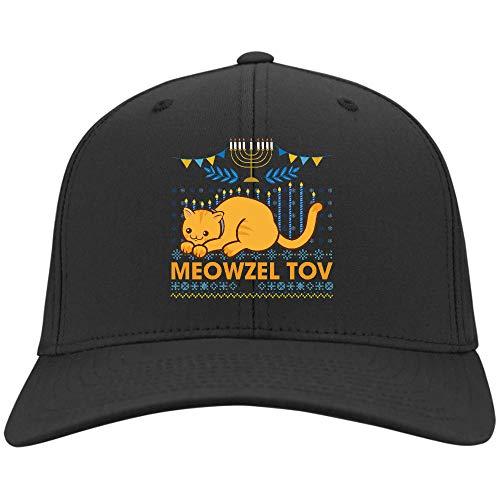 Meowzel Tov Hanukkah Cat Chanukah Hat,Twill Cap