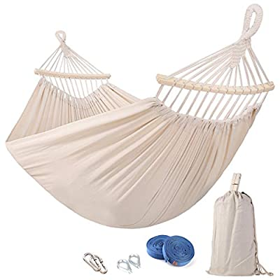 Leize Double Hammock Portable Hammock Heavy Duty Outdoor Double Hammocks for Patio Yard Beach Or Indoor with Carrying Case