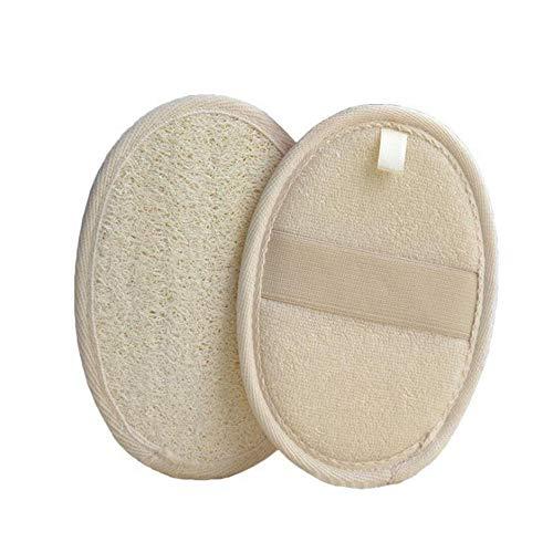 xingchen 2 paquetes de almohadillas exfoliantes de lufa, herramienta de limpieza profunda para ducha de baño, limpiador de lufa para baño, spa y ducha