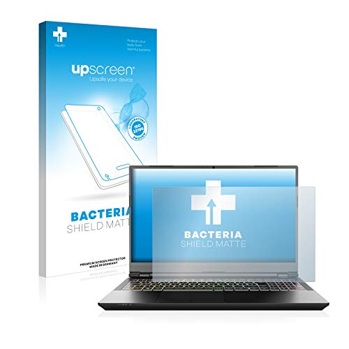 upscreen Screen Protector Matte compatible with Schenker XMG Pro 15' Anti-Bacteria Protection Film - Anti-Glare, Anti-Fingerprint