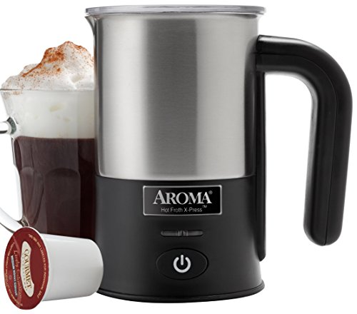 Aroma Aroma Hot Froth X-Press Milk Frother, Stainless Steel