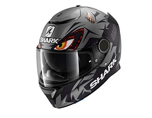SHARK Herren NC Motorrad Helm, Schwarz/Grau, M